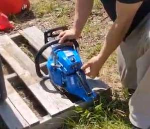 Blue Max Chainsaw Handle
