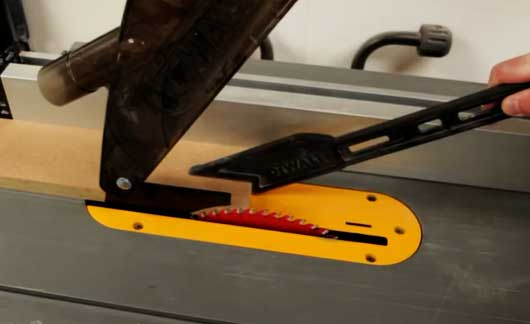 Table Saw Wood Cutting with Push Stick